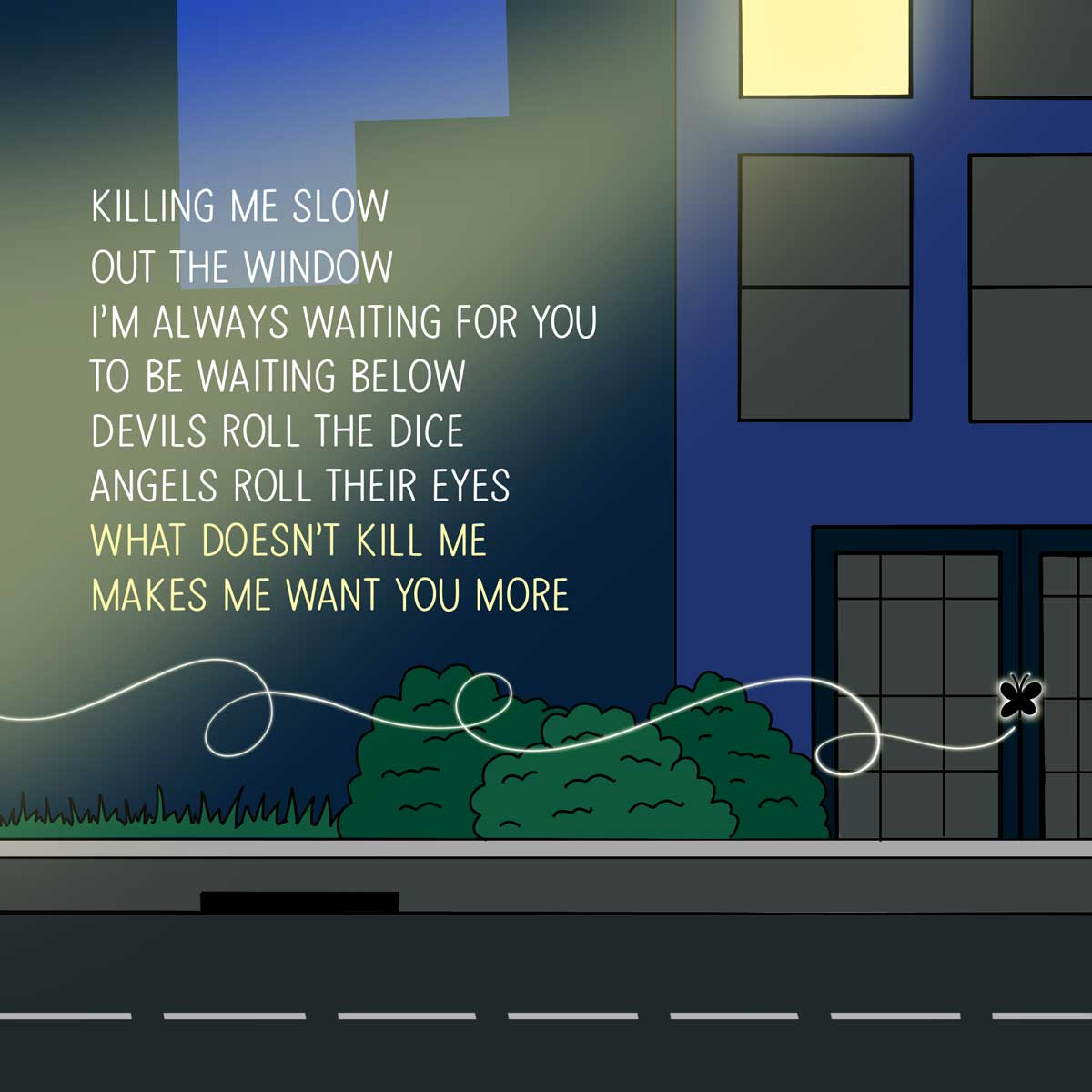 What doesnt kill me makes me want you more taylor swift song quote.
