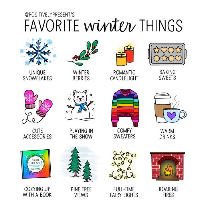 favorite winter things illustration.
