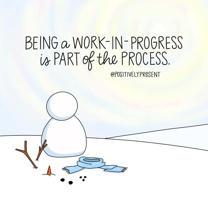 building a snowman illustration.