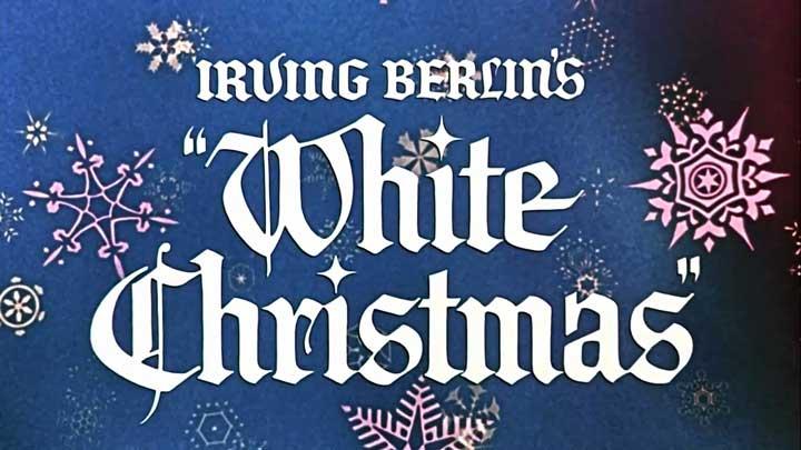 White Christmas title frame image.