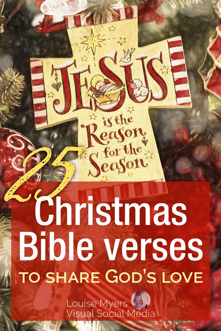 jesus is the reason for the season christmas ornament.