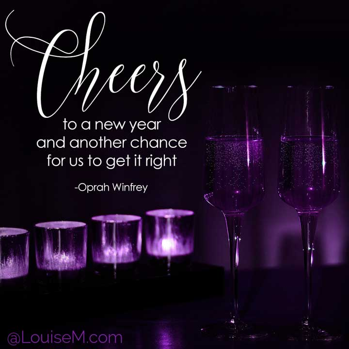new years eve photo with oprah quote.
