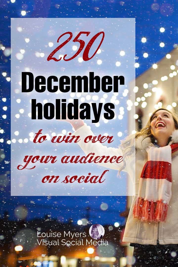 happy winter photo with text december holidays to win over your audience.