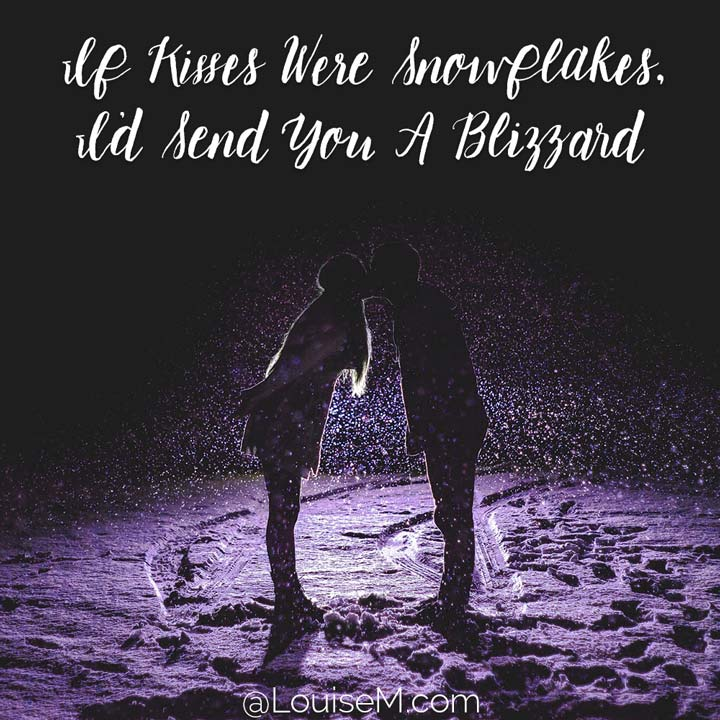 if kisses were snowflakes photo quote.