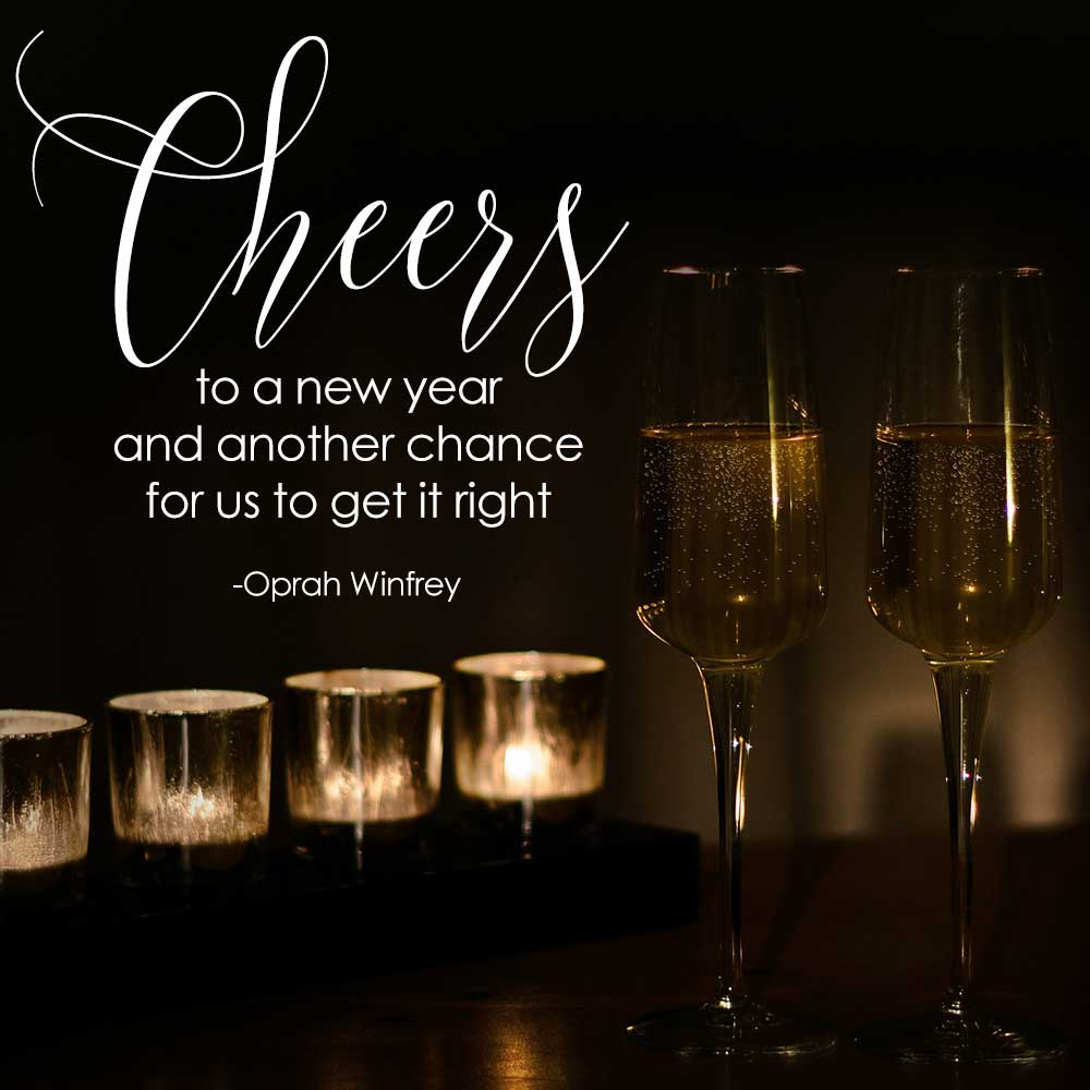 a new year a new chance to get it right quote on candlelit photo.