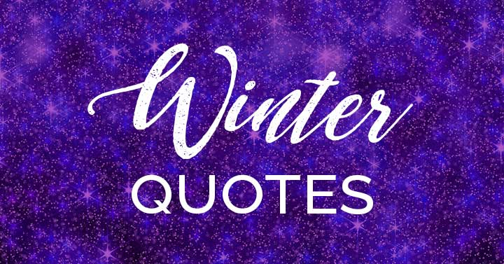 winter quotes text on sparkly purple background.