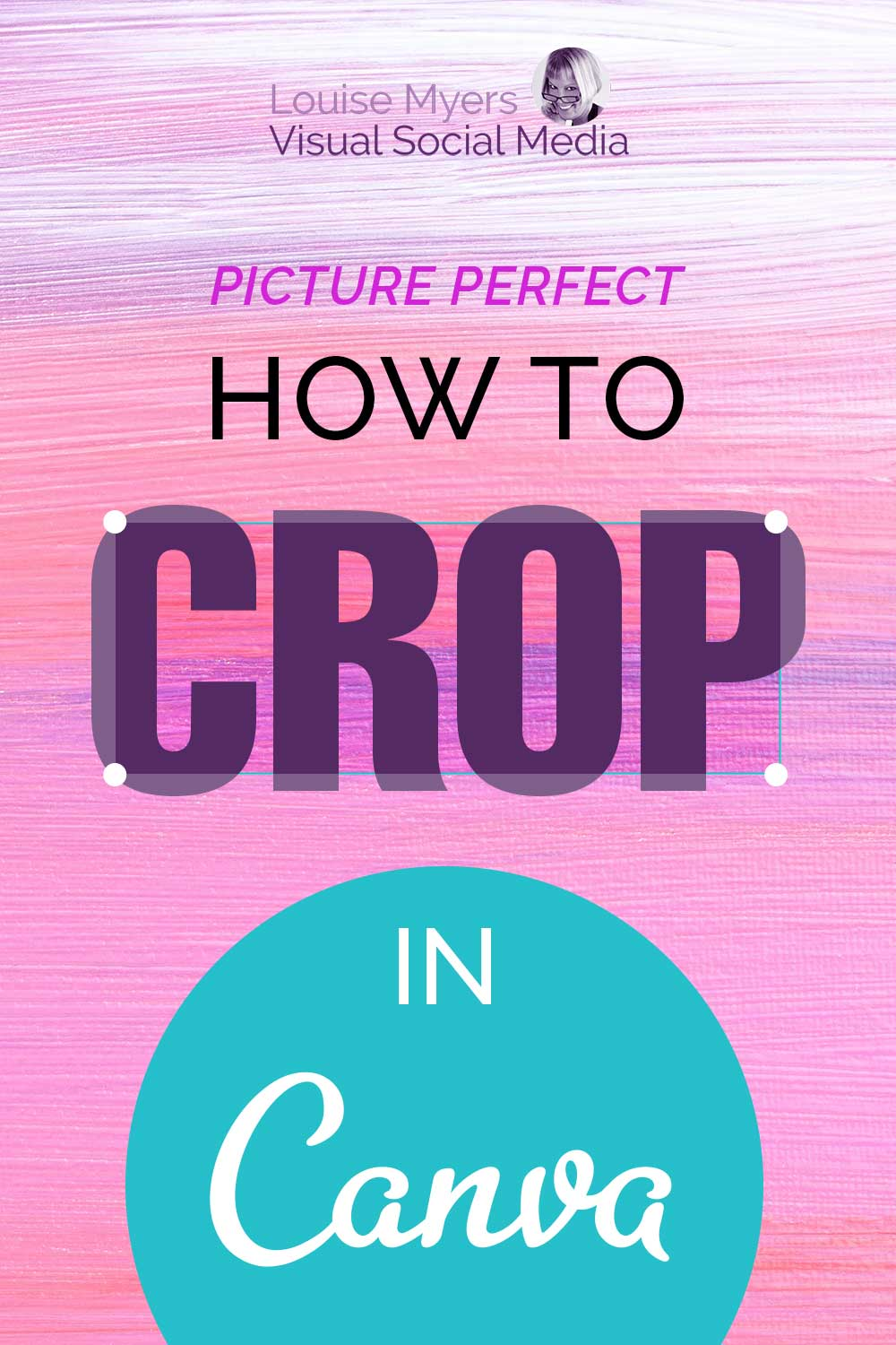 how to crop in canva text on pink watercolor background.