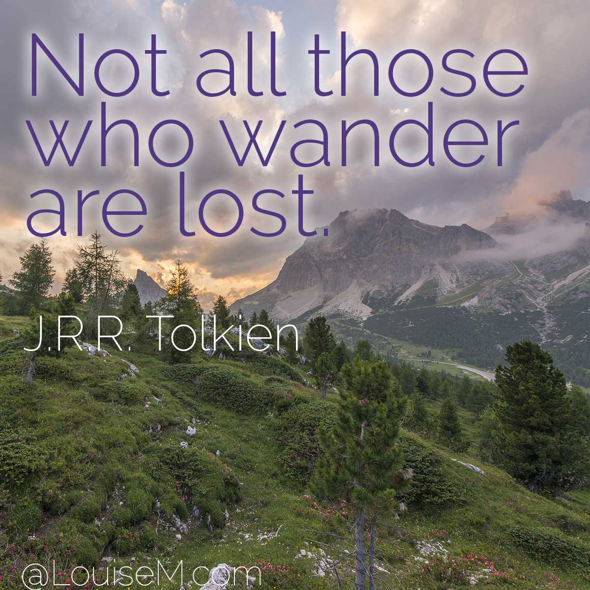 jrr tolkien quote on forest photo.